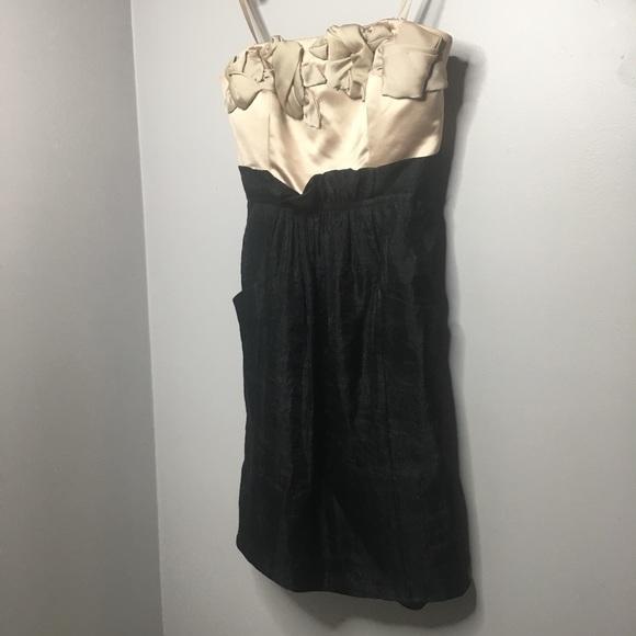 5418e8c8998fa BCBG Dresses   Black Cream Cocktail Dress   Poshmark